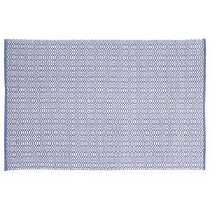 Handwoven Lavender Blue Rombini Cotton Rug, 120x180 Cm