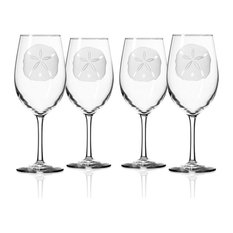 Sand Dollar All Purpose Wine Glass 18 Oz., Set of 4 Wine Glasses
