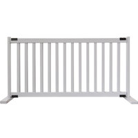 Kensington Series Solid Wood Pet Gate, Pumice Gray, Large