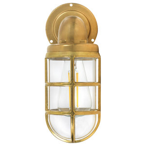 Devonport Down Light - Brass