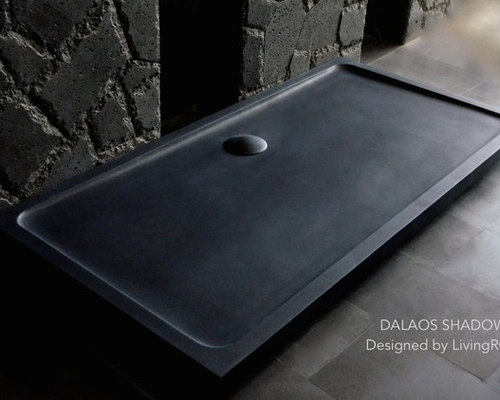 receveur de douche en pierre 180x90 granit noir dalaos shadow. Black Bedroom Furniture Sets. Home Design Ideas