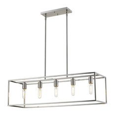 "Acclaim Lighting IN21002 Cobar 5 Light 36""W Linear Chandelier - Nickel"