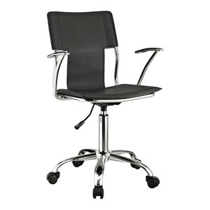 Studio Faux Leather Office Chair, Black
