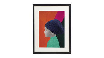 The Beanie -  Personalized Portrait Print