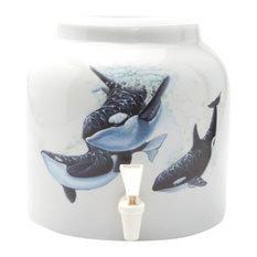Goldwell Designs Killer Whales Design Water Dispenser Crock