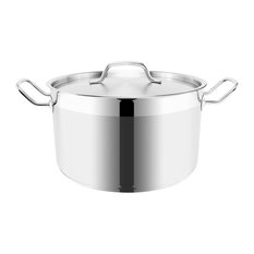 Optima Tall Stainless Steel Stockpot With Lid, 22 cm