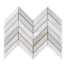 Stone Series Chevron Blue 8x12 Modern Mosaic