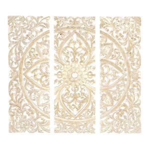 Wooden Wall Panels, 3-Piece Set, 48  x48