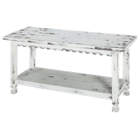 Country Cottage Bench White Antique
