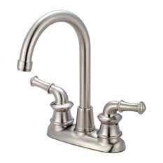 Del Mar Two Handle Bar Faucet, PVD Brushed Nickel