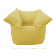 Broadway Faux Leather Armchair, Yellow