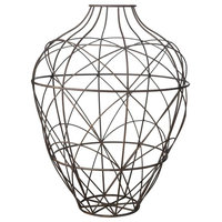 Russet Wire Vessel, Brown, Large