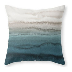 "Within the Tides, Crashing Waves Pillow Cover, 16""x16"" With Pillow Insert"