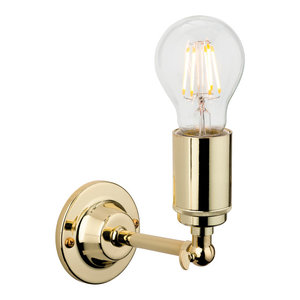 Indy Wall Light, Polished Brass