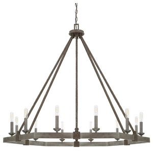 Capital Lighting Zac 12-Light Chandelier 425901UG, Urban Grey