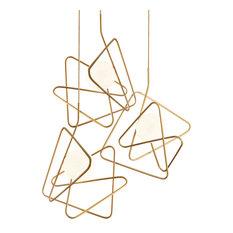Inciucio Triple Pendant Light With Gold Finish