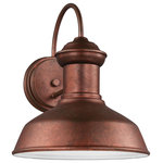 Sea Gull Lighting - Sea Gull Lighting Small 1-Light Outdoor Lantern, Weathered Copper - Blubs Not Included