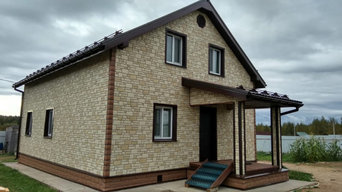 Фасады домов с материалами Docke
