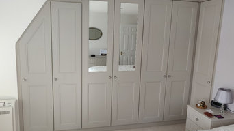 Emmsworth. Installation of extra deep wardrobes & free standing & fitted cabinet