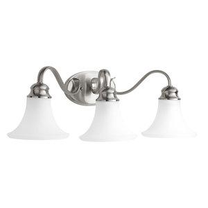 Progress Lighting 3-100W Medium Bath Bracket, Brushed Nickel