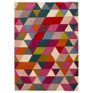Illusion Prism Rug, Pink and Multi, 160x220 cm