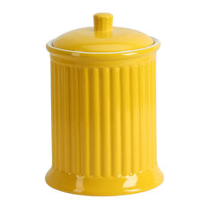 Simsbury Extra Large Canister, Citron, Yellow