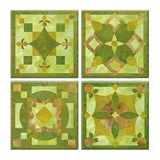 Knot Garden Peel and Stick Tiles, 4-Piece Set