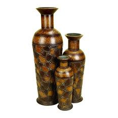 Frieda 3-Piece Metal Floor Vase Set