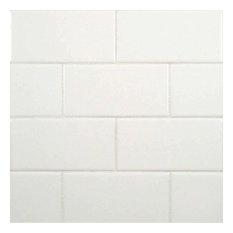 """50 Sqft of 3""""x6"""" White Subway Glossy Ceramic"""