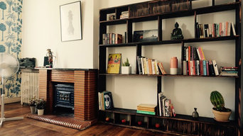 Charred Shelving Unit