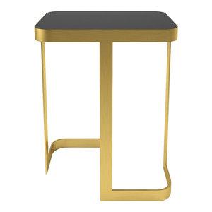 Marioni Jean Side Table Black Glass