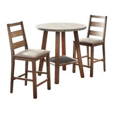 Elenora Rustic Brown, 3-Piece Dining Set