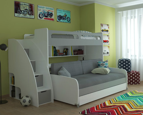 bel mondo twin bunk bed with sofa table and trundle kids bedroom furniture