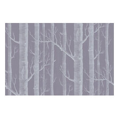 Woods Wallpaper, Lilac/Ivory