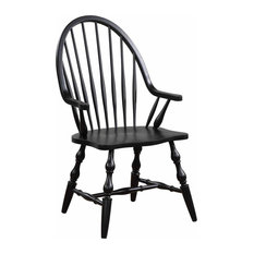 Dining Arm Chair in Antique Black