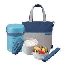 Ms. Bento Stainless Lunch Jar, Aqua Blue