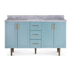 """Evina Bathroom Vanity, Blue, 60"""""""