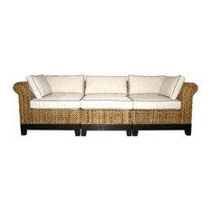 Elegant Chic Teak Inc.   Naples 3 Piece Sectional Sofa   Sectional Sofas