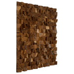 Phillips Collection - Blocks Wall Art, Chamcha Wood, Natural, Large - This textured wall art is created in a mosaic fashion using the ends cuts of our prized Chamcha wood, an acacia species of Northern Thailand. By altering the direction of the wood grains, the angles and the cuts, we bring you naturally beautiful wall panels and tiles.