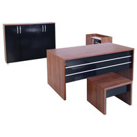 CASA MARE 4 Piece Desk Office Suite Furniture Set, 71""