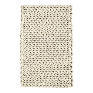 Helix Ivory Rectangle Plain/Nearly Plain Rug 120x170cm