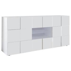 Diana Sideboard, LED Lights, 181 cm, White Gloss