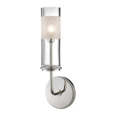 Wentworth 1-Light Wall Sconce, Polished Nickel