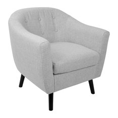 LumiSource Rockwell Accent Chair With Noise Light Gray
