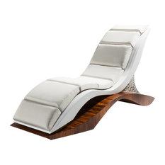 Billow Chaise Longue, Wood