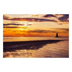 """Cape Henlopen Sunset"" Landscape Photo, Unframed Coastal Wall Art Paper Prints"