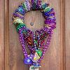 Create a Festive, Colorful Mardi Gras Bead Wreath