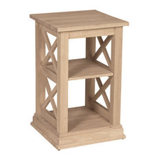 International Concepts Hampton Accent Table Unfinished Side Tables And End