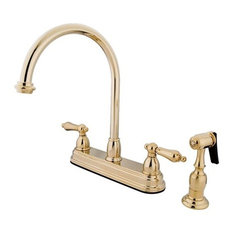 unlacquered brass finishing kitchen faucets | houzz