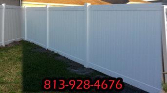 Fence and Brick Pavers Tampa Florida